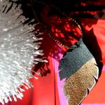 DIY Gold Leather Feather Ornament