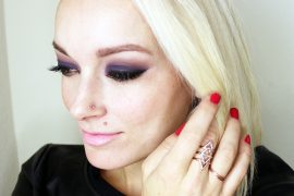 new years even makeup look and tutorial with gold and plumb colors