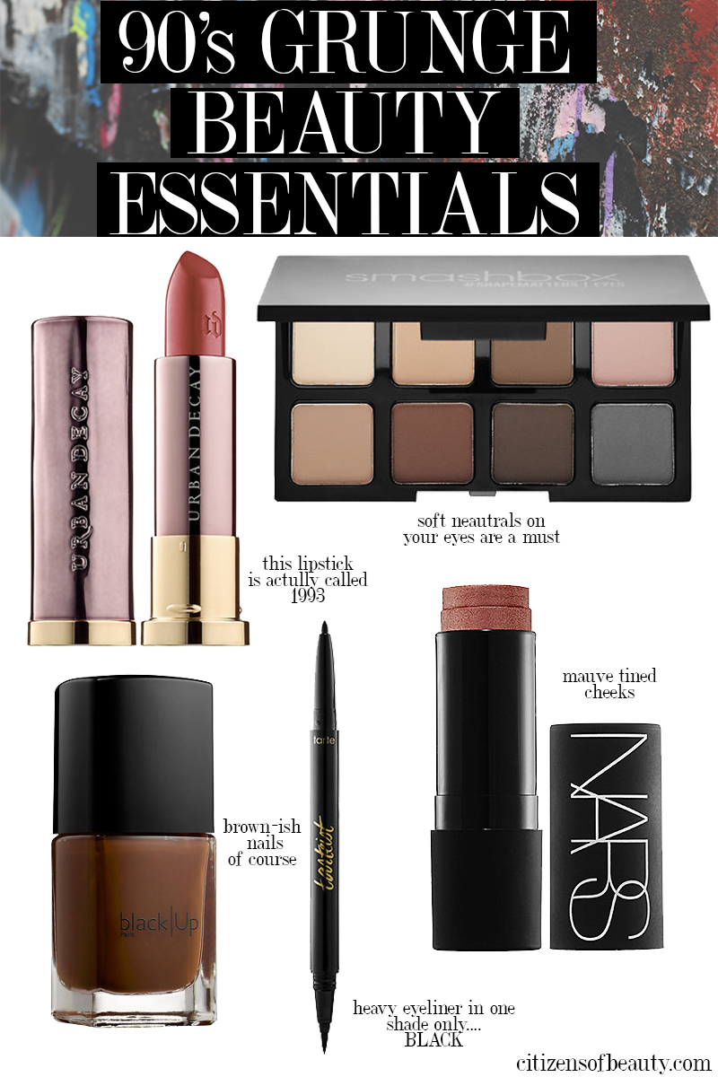 Makeup Essentials Must Haves From Makeup Artists Part 1: The 90's Grunge Makeup Look Is Back!