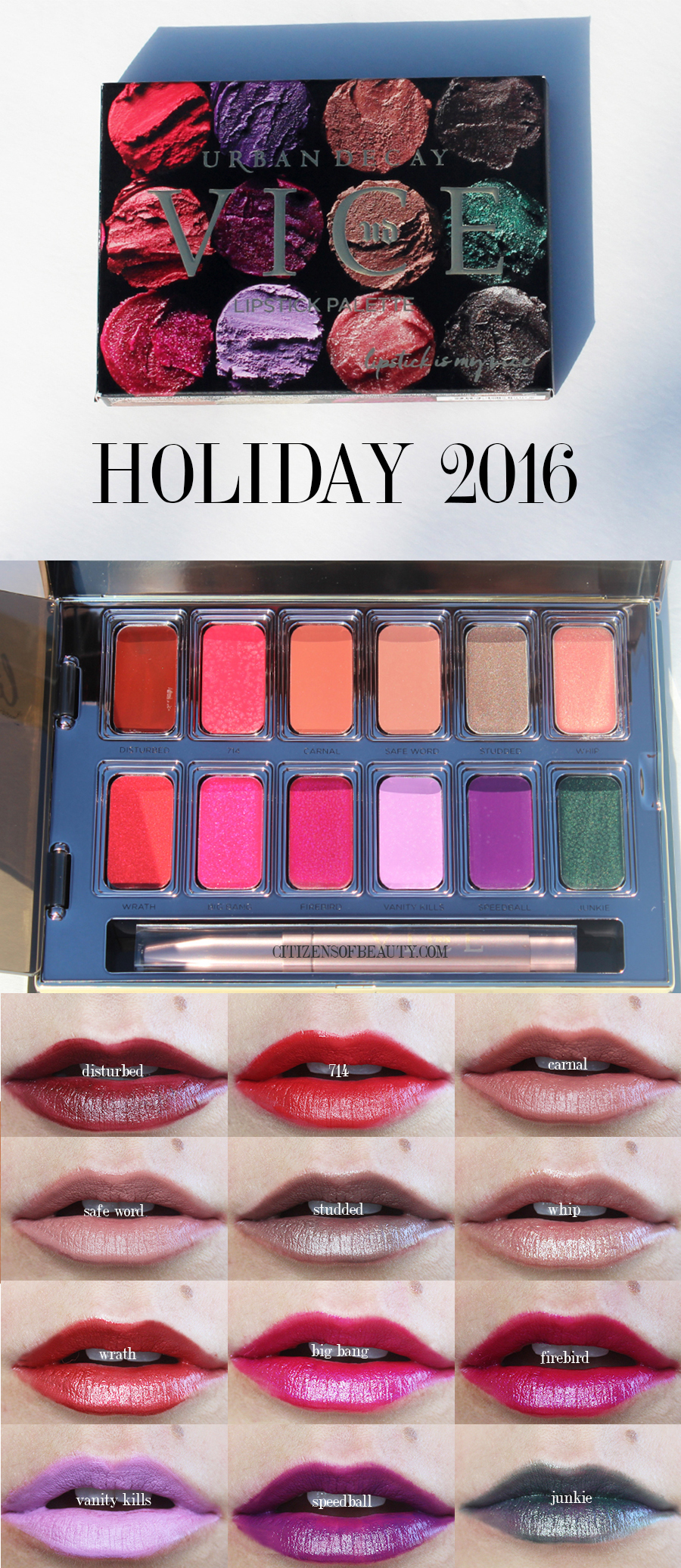Urban Decay Vice Lipstick Palettes In Junkie And Blackmail
