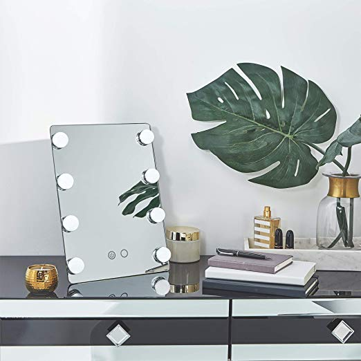 Best budget friendly light up vanity mirror for your tabletop with beauty and lifestyle blogger, Kendra Stanton.