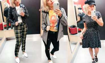 90's style trend and try on session at Target