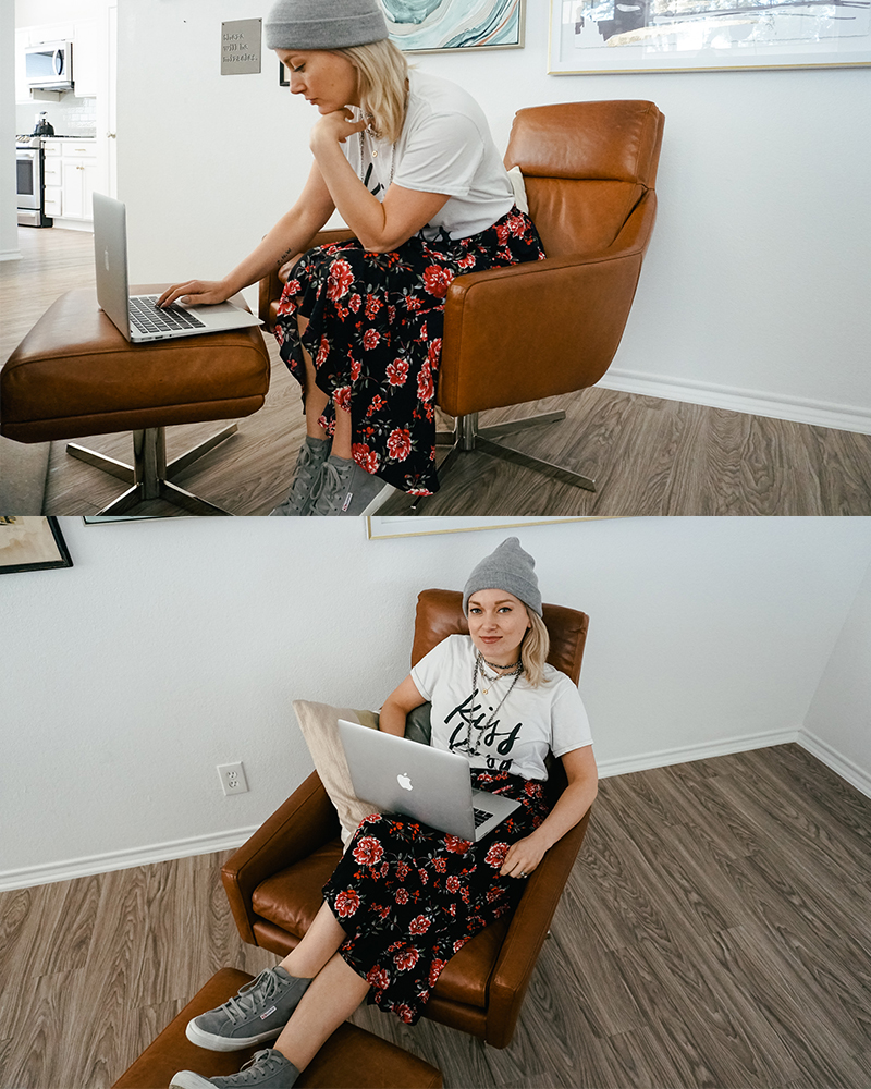 Austin, Texas beauty and lifestyle blogger shows you two ways to wear a floral boho skirt.