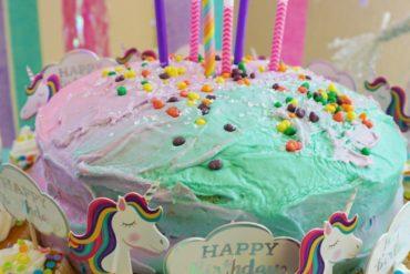 Easy unicorn cake for kids birthday party
