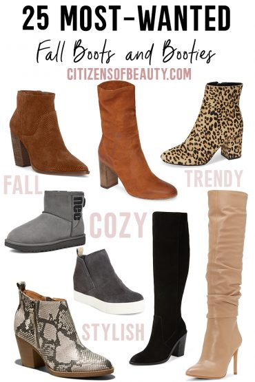 25 of the most popular boots and booties for Fall 2019 are here with beauty and lifestyle blogger, Kendra Stanton.