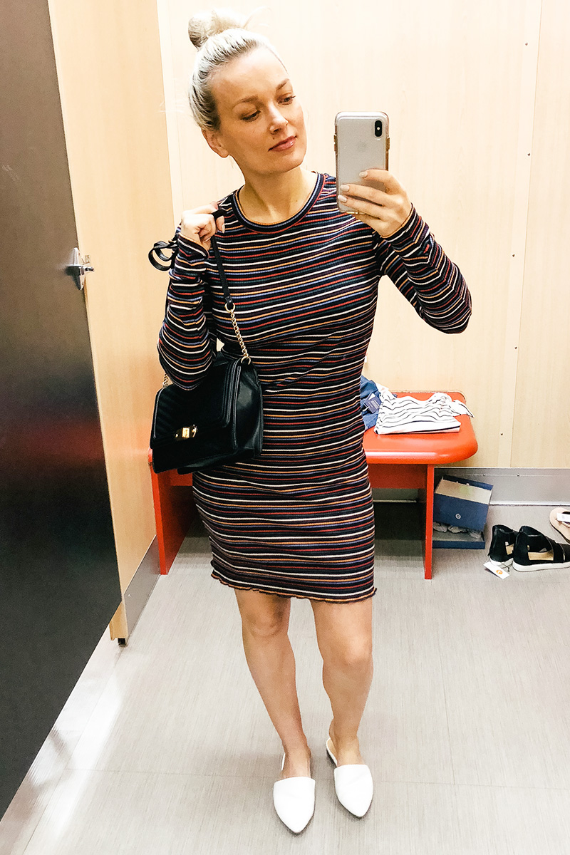 February Target Try on Haul wild and fable striped dress and more with Austin, TX style and beauty blogger, Kendra Stanton.