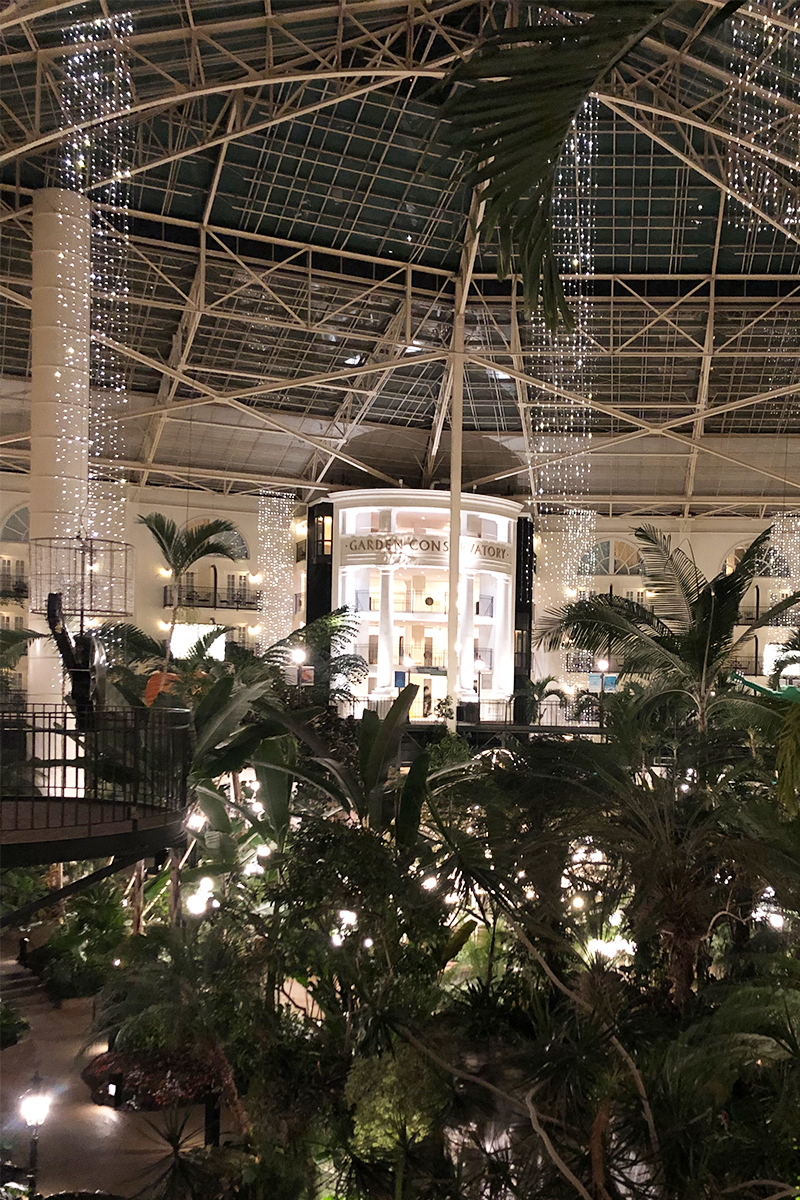 what the Opryland resort looks like at night