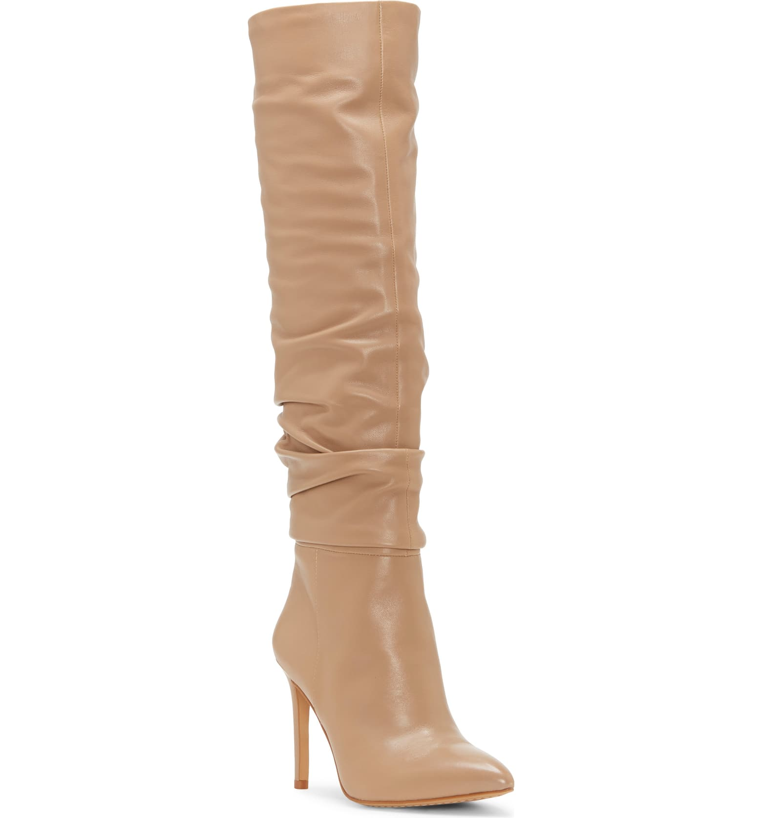 Over the knee kashiana boot in tan leather has ultra stunning vibes for Fall 2019 boots.