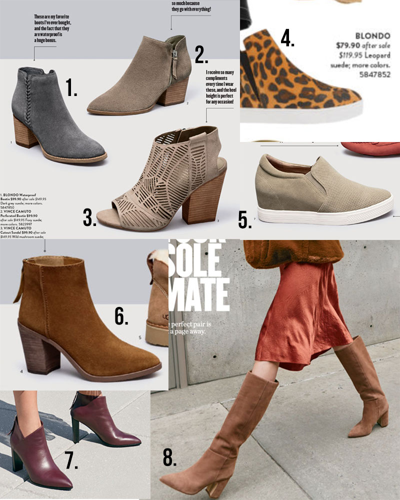 All the shoe picks from the #nsale catalog with boots, booties, comfy shoes and more.