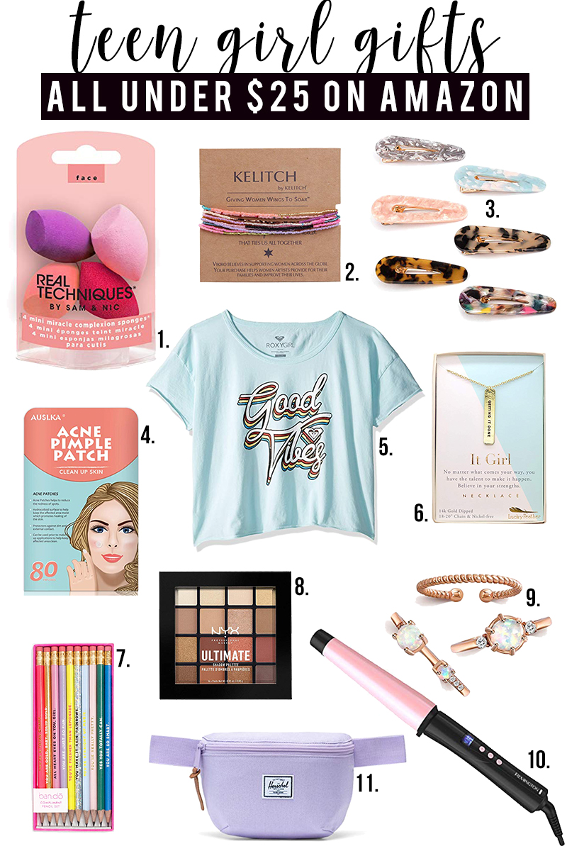 Top teen gifts for teen girls under $25 for birthday, holiday, and more!