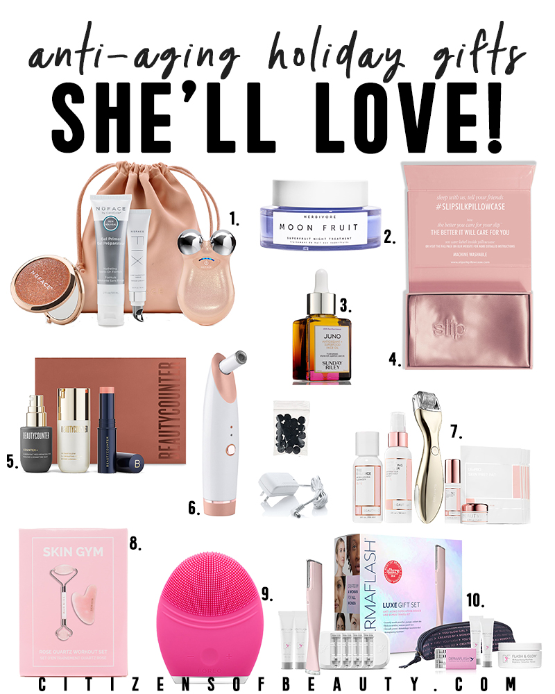 The anti-aging gift guide for women who want to reduce the signs of aging like fine lines, wrinkles, and brown pigmentation. Here you will find all of beauty and lifestyle blogger, Kendra Stantons, favorite picks!