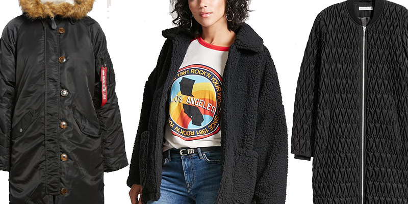 black winter coats that are warm and cozy