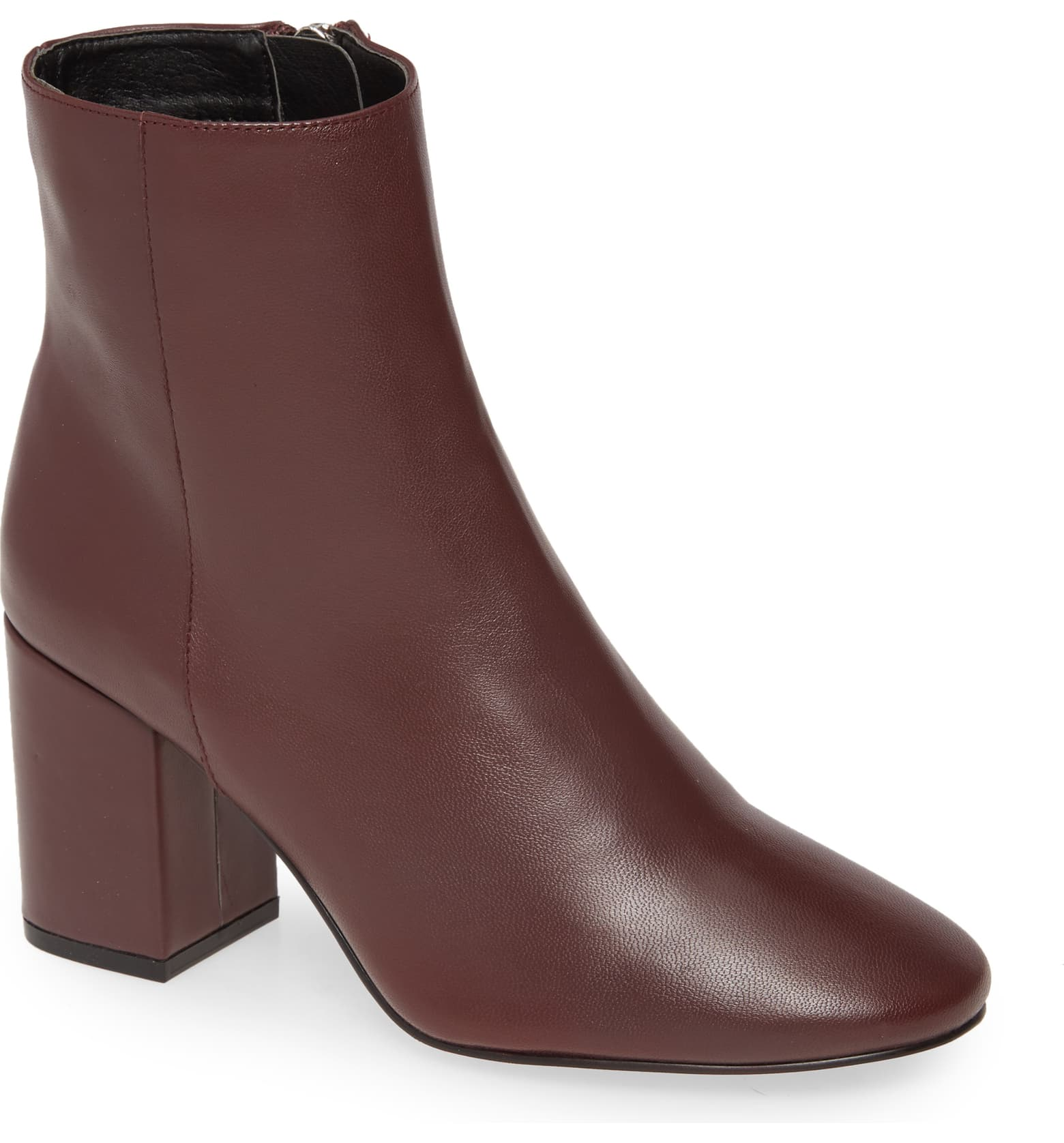 Burgundy leather boots for fall 2019 popular trends.