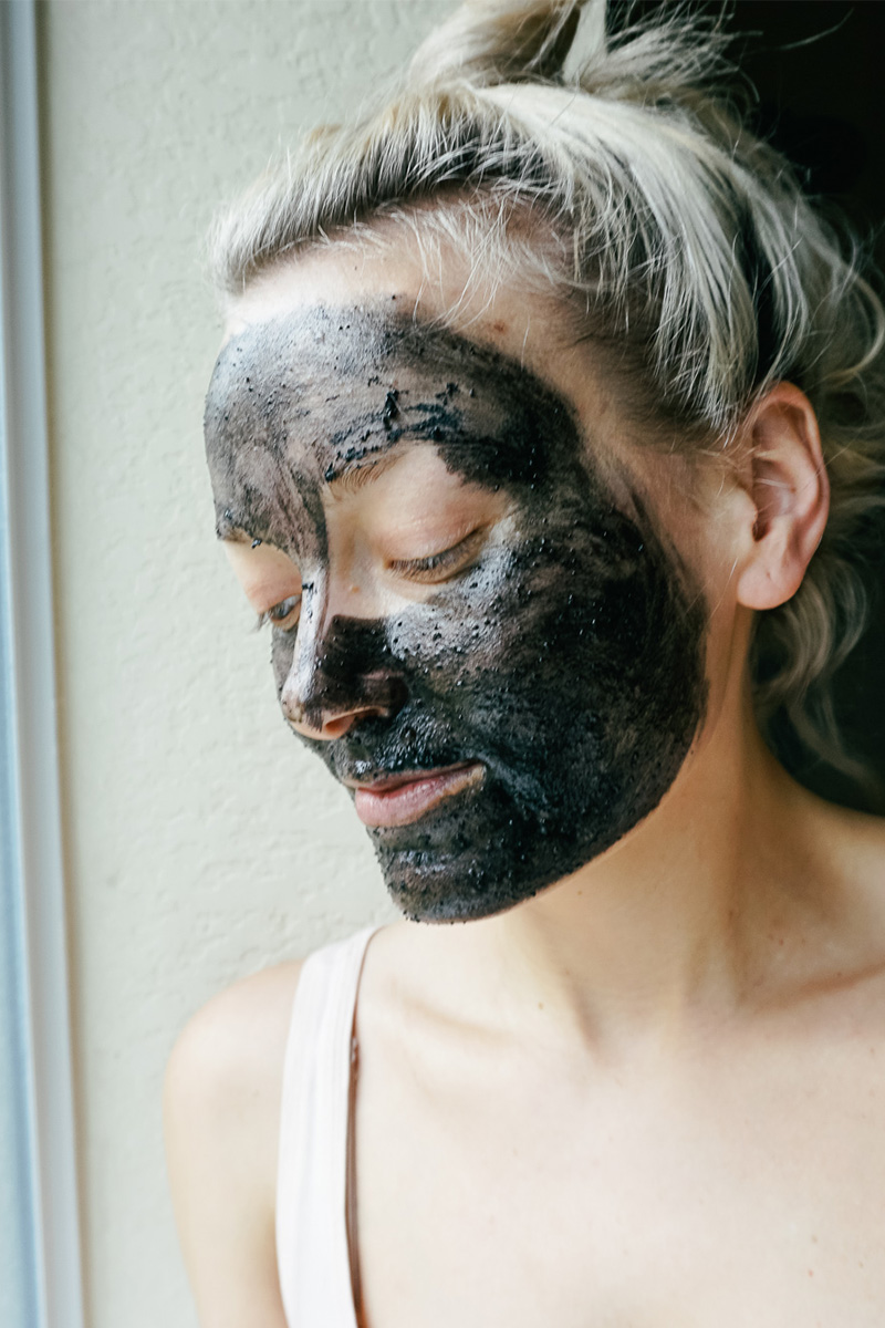 DIY Charcoal Mask recipe for pore detox and acne prone skin with beauty and lifestyle blogger, Kendra Stanton.