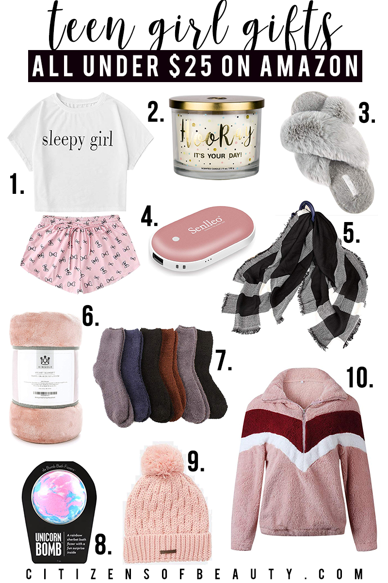 Cozy and warm gift ideas for teen girls under $25 and on Amazon!