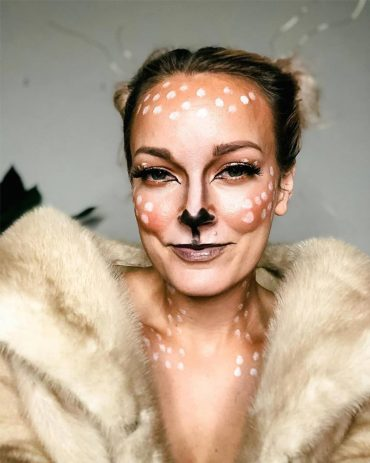 Deer Halloween Makeup Look with Beauty and lifestyle blogger, Kendra Stanton