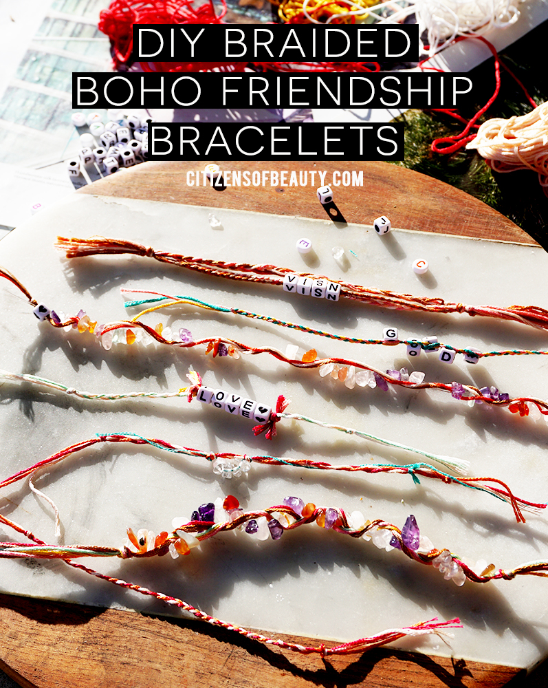 Bohemian accessories are hot right now and this easy DIY boho beaded bracelets will give you those bohemian vibes immediately. Easy to make for yourself or as a craft with kids.