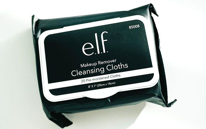 e.l.f. cleansing cloths are a non-toxic skincare product that helps to remove your cosmetics!
