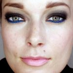 Dark Smoky Fall Eyes with a Pop of Blue