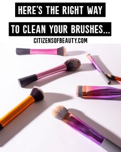 Learn to wash your makeup brushes the right way with these easy step by step basic tips!