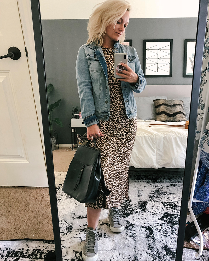 How to style high-tops with dresses, jean jackets, shorts and more with beauty and lifestyle blogger, Kendra Stanton
