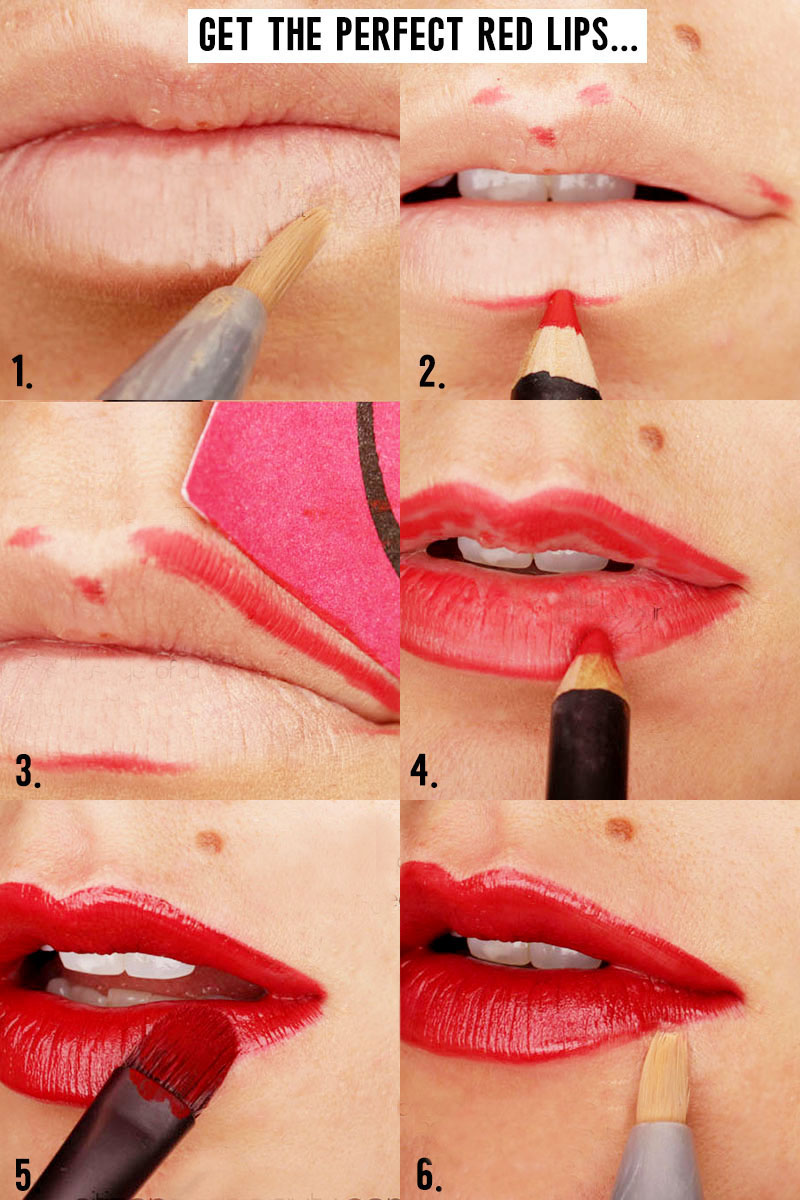 Here are the step by steps to getting red lips and how to make them look perfect.