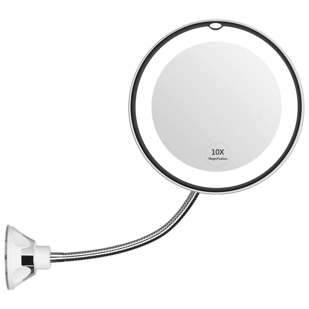 Flexible light up makeup mirror on Amazon with killer reviews!