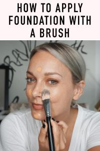 Learn how to apply foundation with a makeup brush with these basic makeup tips by beauty and lifestyle blogger, Kendra Stanton.