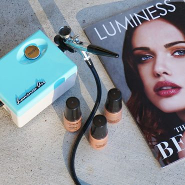 how to airbrush your eyeshadow on with luminess air