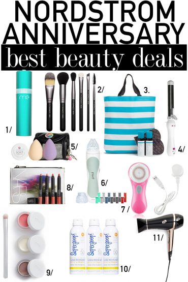 Best Nordstrom Anniversary Sale 2017 beauty steals and deals in skincare, makeup, and beauty gadgets