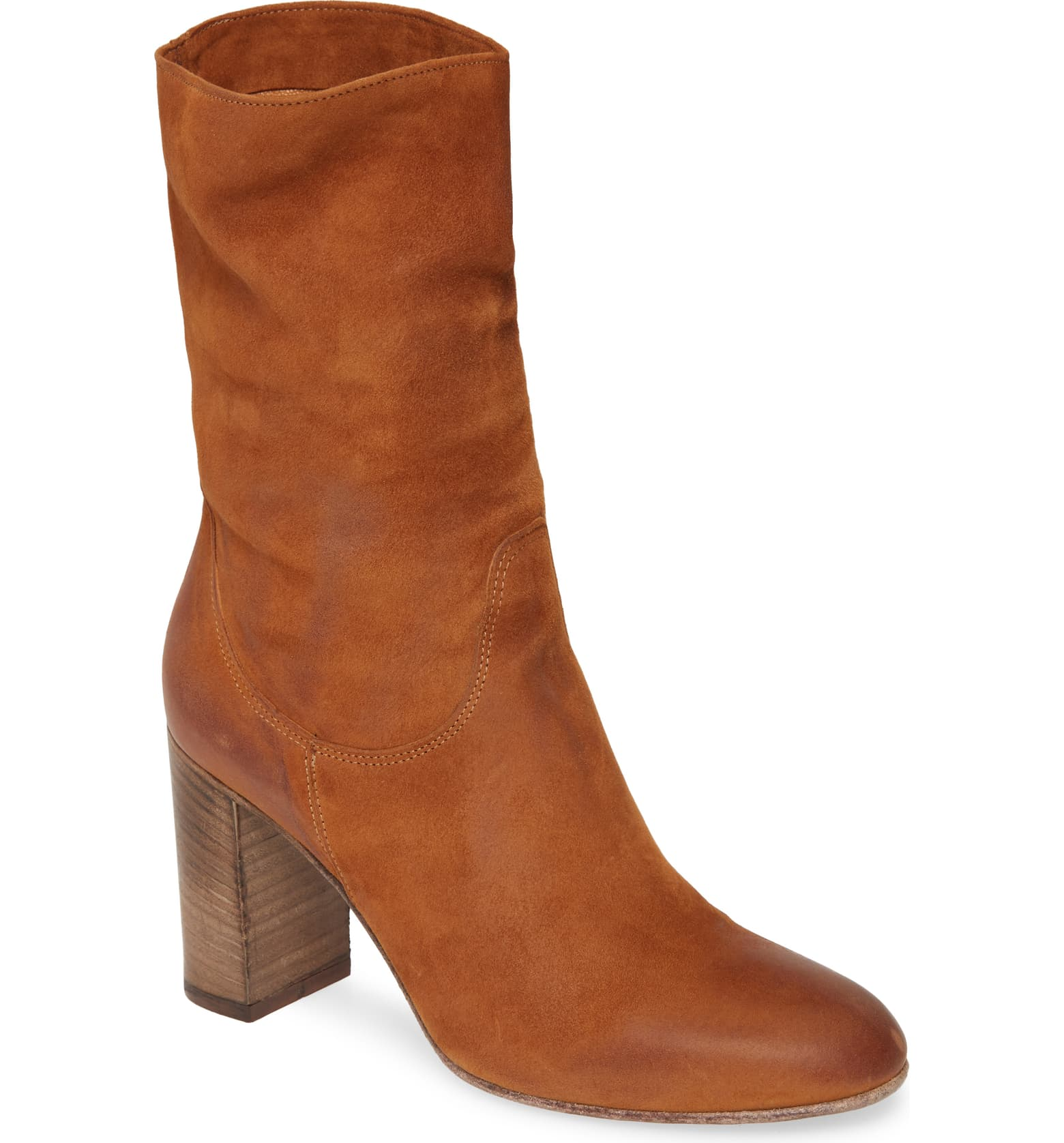 suede slouchy free people boot thats perfect for Fall 2019!