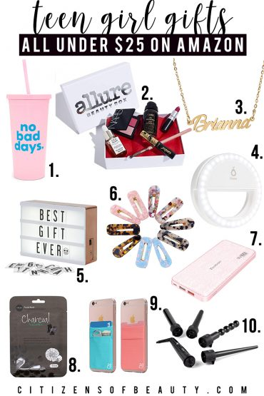 Teen girl gift ideas for birthdays, holidays and more all under $25 on Amazon.