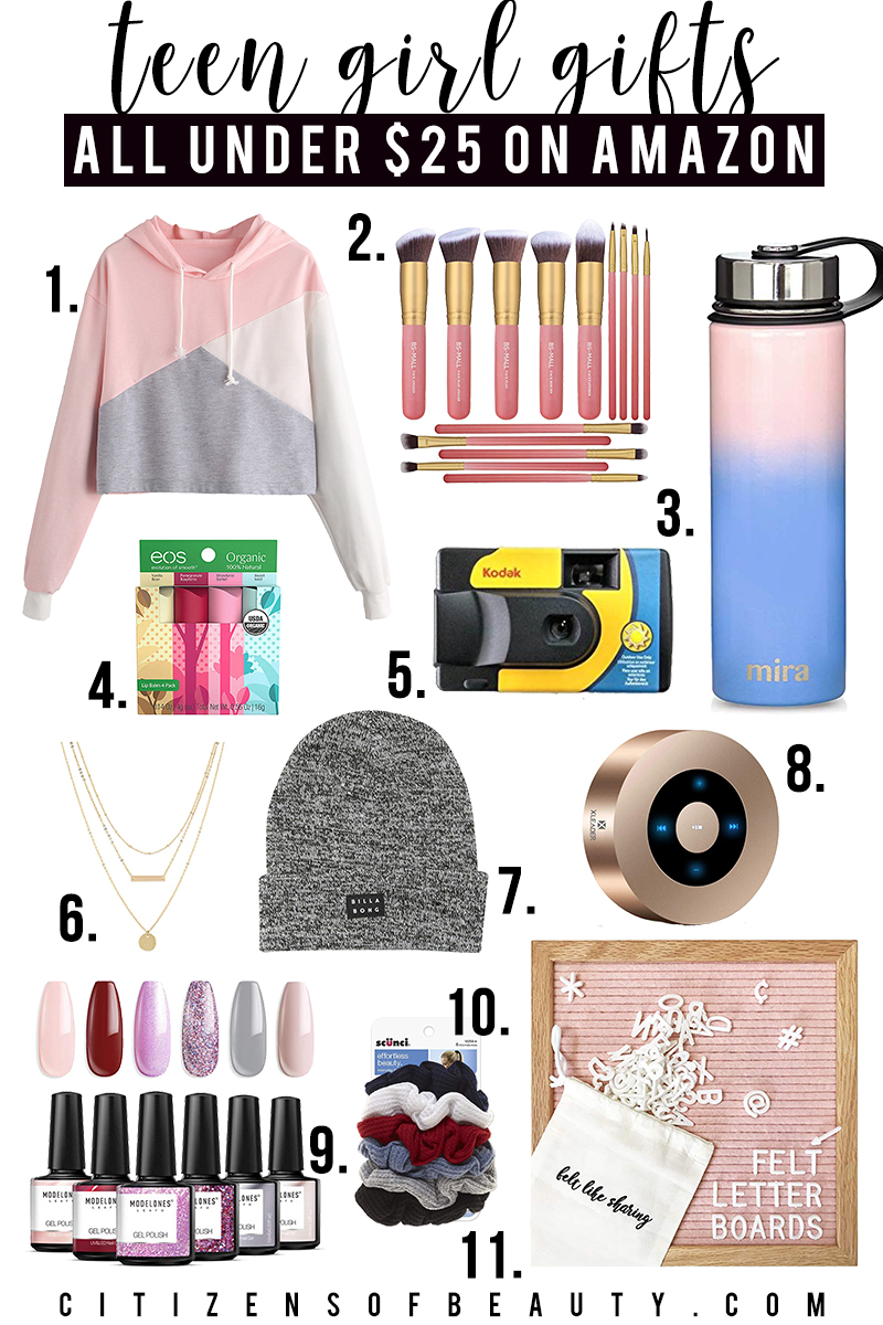 Check out these gifts for teen girls under $25 in both beauty, tech, style, and more by beauty and lifestyle blogger, Kendra Stanton.