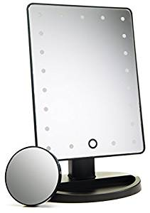 Top touchscreen light up makeup mirror on Amazon