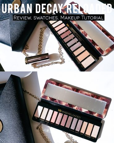 Urban Decay Reloaded review, swatches, and makeup look with beauty and lifestyle blogger, Kendra Stanton.
