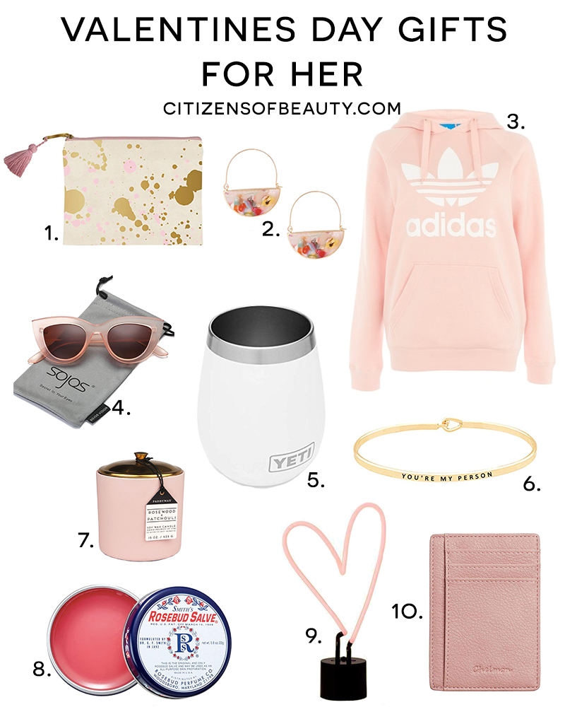 Valentines day gifts for her with ideas she will love with Beauty and lifestyle blogger, Kendra Stanton